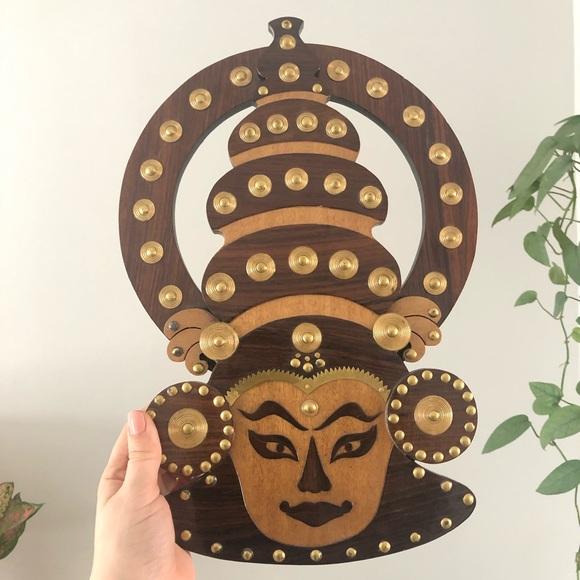 Asian Cultural Goddess Wood Metal Wall Decor